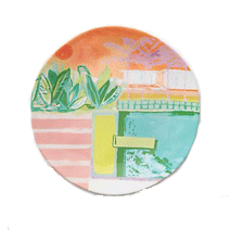 Anthropologie dinner plate | Beach Tomato