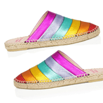 Air & Grace rainbow mules | Beach Tomato