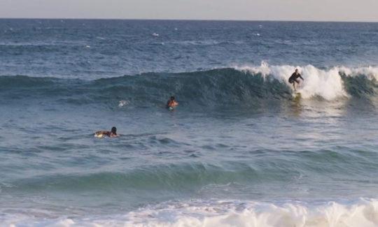 Surfers in Kauai, Hawaii